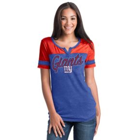 Women's 5th & Ocean by New Era New York Giants Burnout Football Tee