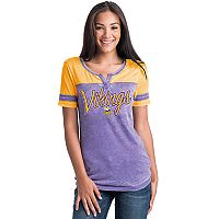 Women's 5th & Ocean by New Era Minnesota Vikings Burnout Football Tee