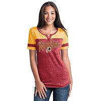 Women's 5th & Ocean by New Era Washington Redskins Burnout Football Tee
