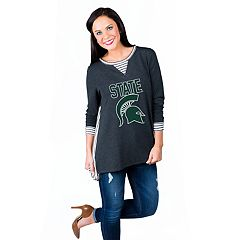 Women's Gameday Couture Michigan State Spartans Back Panel Oversized Tunic
