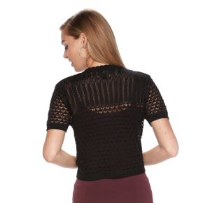 Women's Ronni Nicole Open-Work Crochet Shrug