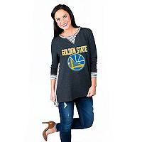 Women's Gameday Couture Golden State Warriors Back Panel Oversized Tunic