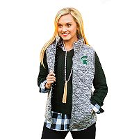 Women's Gameday Couture Michigan State Spartans Quilted Vest