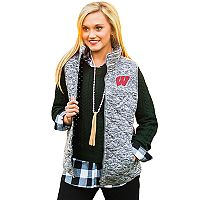 Women's Gameday Couture Wisconsin Badgers Quilted Vest