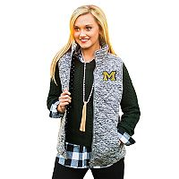 Women's Gameday Couture Michigan Wolverines Quilted Vest