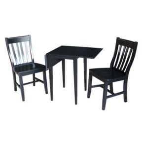 International Concepts Dual Drop Leaf Dining Table & Chair 3-piece Set