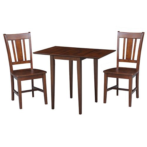 International Concepts Sam Remo Dual Drop Leaf Dining Table & Chair 3-piece Set