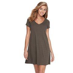 Women's Ronni Nicole Striped T-Shirt Dress