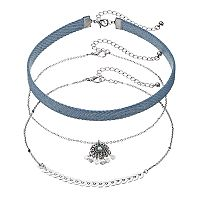 Mudd® Denim, Dream Catcher & Arrow Choker Necklace Set
