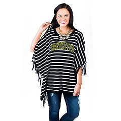 Women's Gameday Couture Iowa Hawkeyes Fringed Poncho