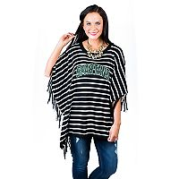 Women's Gameday Couture Michigan State Spartans Fringed Poncho