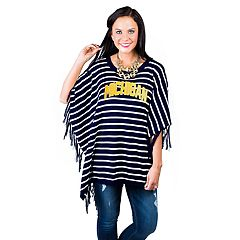 Women's Gameday Couture Michigan Wolverines Fringed Poncho