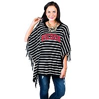 Women's Gameday Couture Wisconsin Badgers Fringed Poncho