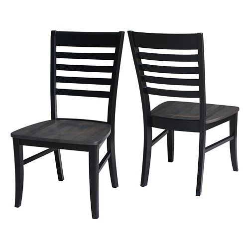 International Concepts Cosmo Ladder Back Dining Chair 2-piece Set