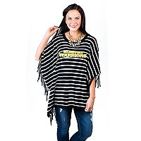 Women's Gameday Couture Golden State Warriors Fringed Poncho