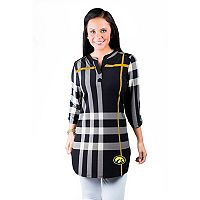 Women's Gameday Couture Iowa Hawkeyes Plaid Tunic