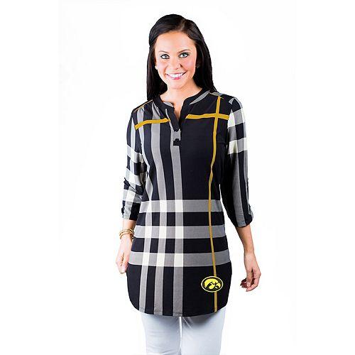 10f50db9d4b4f Women s Gameday Couture Iowa Hawkeyes Plaid Tunic