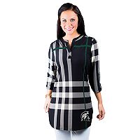 Women's Gameday Couture Michigan State Spartans Plaid Tunic