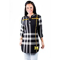 Women's Gameday Couture Michigan Wolverines Tide Plaid Tunic