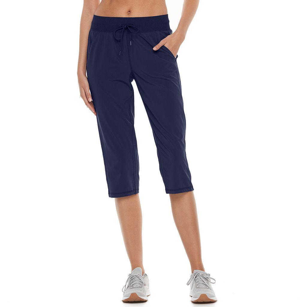 Women's Tek Gear® Ruched Straight Leg Capris