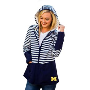 Women's Gameday Couture Michigan Wolverines Striped Jacket