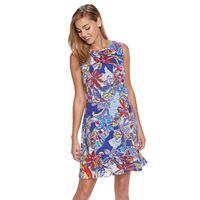 Women's Ronni Nicole Textured Floral Shift Dress