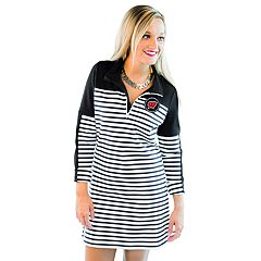 Women's Gameday Couture Wisconsin Badgers Striped Pullover Dress