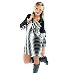 Women's Gameday Couture Golden State Warriors Striped Pullover Dress