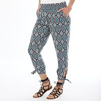 Women's Apt. 9® Tile Print Smocked Soft Pants