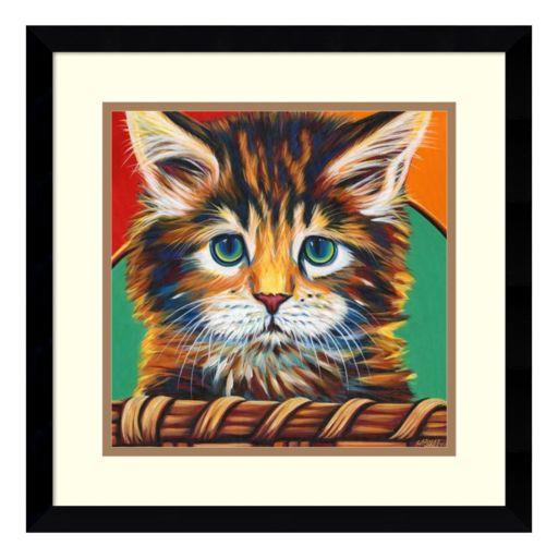 Amanti Art Kitten In Basket I Framed Wall Art