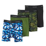 Boys Hanes 4-Pack Print Boxer Briefs