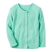 Girls 4-8 Carter's Ribbed Solid Cardigan