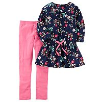 Girls 4-8 Carter's Floral Baby Doll Top & Solid Leggings