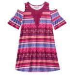 Girls 7-16 & Plus Size Mudd® Patterned Cold Shoulder Dress