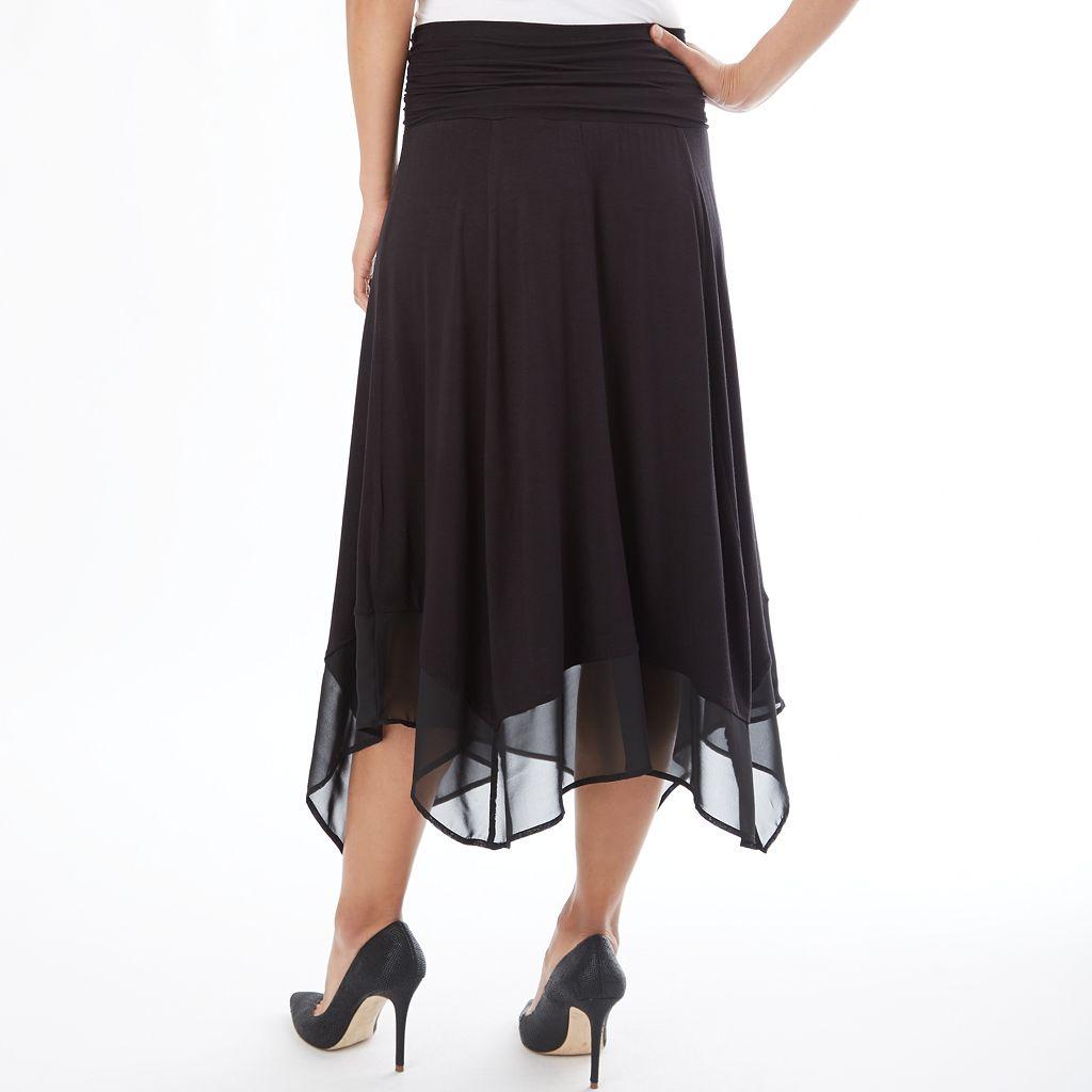 Women's Apt. 9® Shark-Bite Hem Midi Skirt