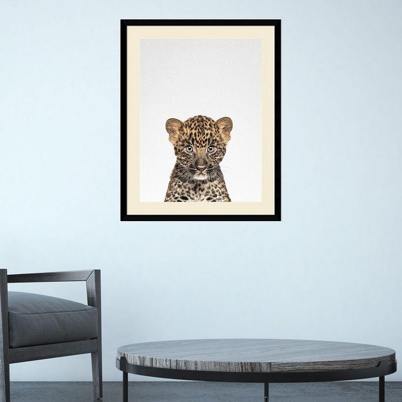 Amanti Art Leopard Framed Wall Art, Medium