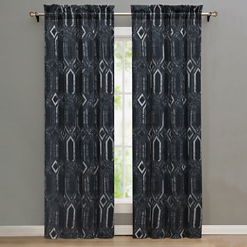Nikki Chu 2-pack Midnight Window Curtains