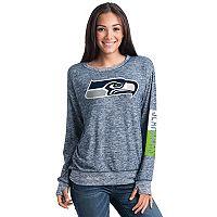 Women's 5th & Ocean Seattle Seahawks Space-Dyed Pullover Sweatshirt