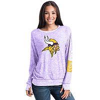 Women's 5th & Ocean Minnesota Vikings Space-Dyed Pullover Sweatshirt