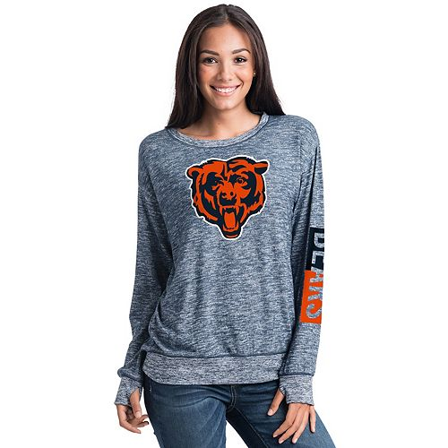 Women's 5th & Ocean Chicago Bears Space-Dyed Pullover Sweatshirt