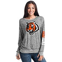 Women's 5th & Ocean Cincinnati Bengals Space-Dyed Pullover Sweatshirt