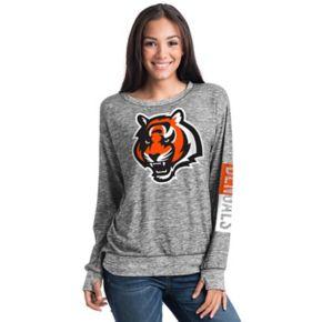 Women's 5th & Ocean Cincinnati Bengals Space-Dyed Pullover Sweatshirt