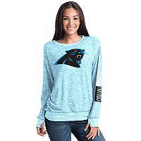 Women's 5th & Ocean Carolina Panthers Space-Dyed Pullover Sweatshirt