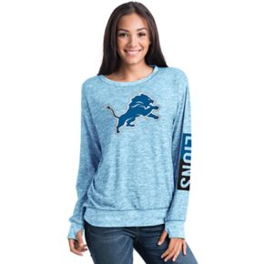 Women's 5th & Ocean Detroit Lions Space-Dyed Pullover Sweatshirt