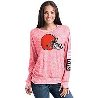 Women's 5th & Ocean Cleveland Browns Space-Dyed Pullover Sweatshirt