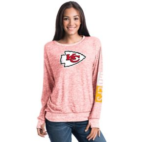 Women's 5th & Ocean Kansas City Chiefs Space-Dyed Pullover Sweatshirt