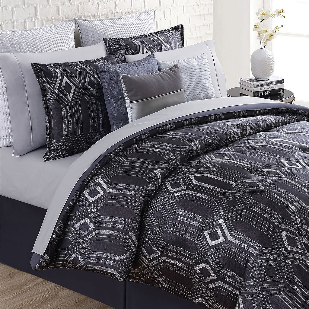 Nikki Chu 4-piece Midnight Comforter Set