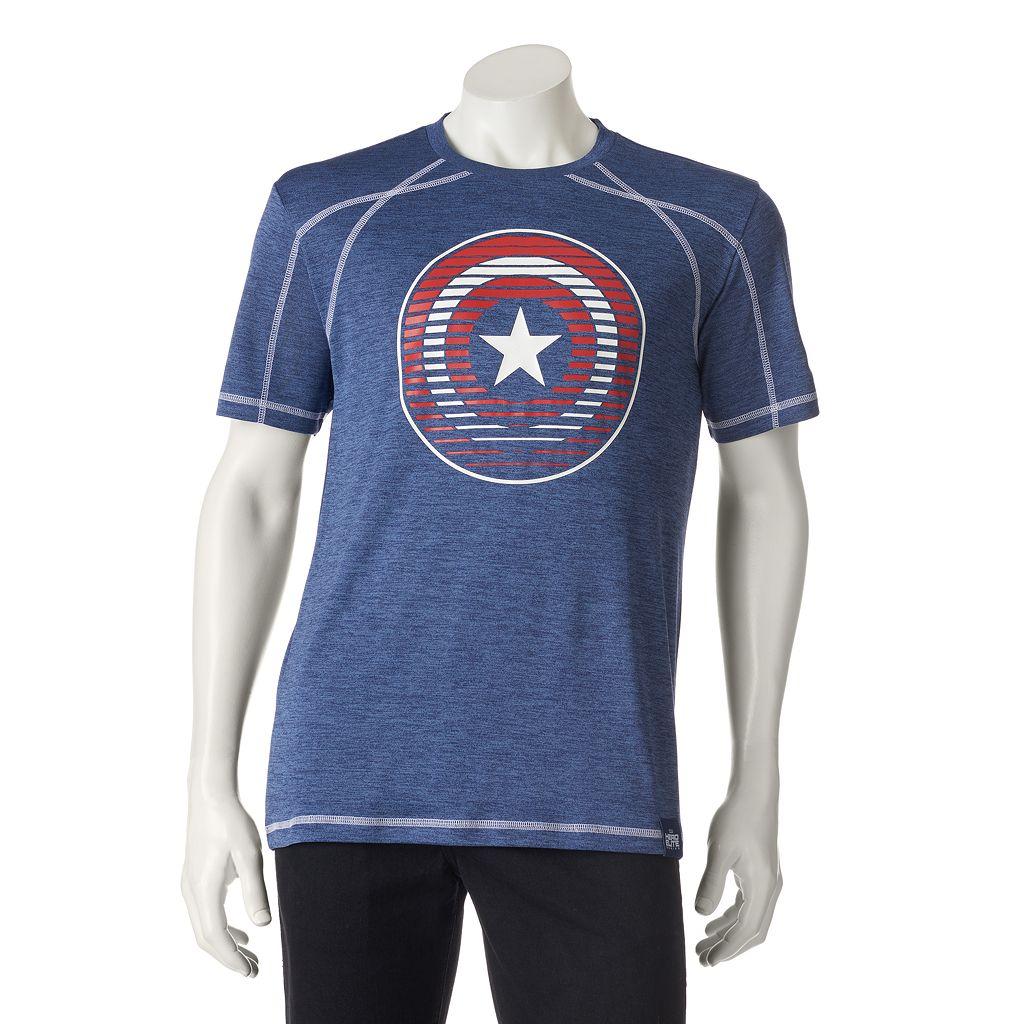 Men's Marvel Hero Elite Captain America Pieced Tee