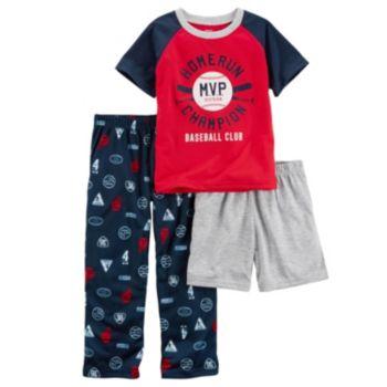 Boys 4-12 Carter's Baseball MVP 3-Piece Pajama Set