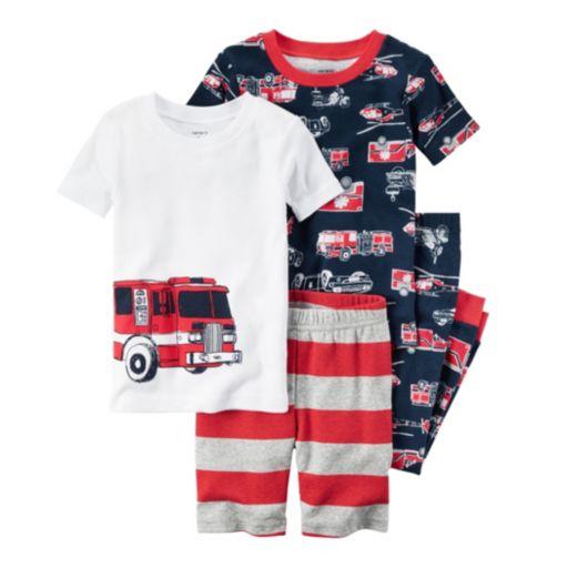 Boys 4-12 Carter's 4-Piece Fire Truck Pajama Set